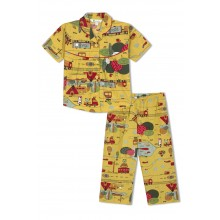 GreenApple Organic Cotton Girl's Nightsuit with A Travel Story