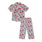 Girl's Nightsuit with Tulip Flowers