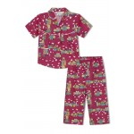 Girl's Nightsuit with Doll Houses