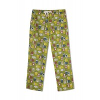 GreenApple Organic Cotton Mom Pyjama Green Color with Colorful Owls