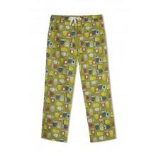 GreenApple Organic Cotton Mom Pyjama Green Color with Colorful Owls