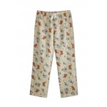 Mom Pyjama Light Brown Color with Red and Blue Elephants