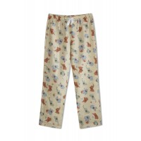 GreenApple Organic Cotton Mom Pyjama Light Brown Color with Red and Blue Elephants