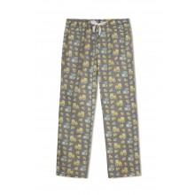 GreenApple Organic Cotton Mom Pyjama Grey Color with Yellow Truck and Cars