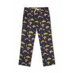 Mom Pyjama Dark Blue with Yellow Clouds and Aeroplanes