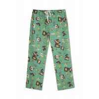 GreenApple Organic Cotton Mom Pyjama Green Color with Bats,Soccer Ball,Basket Ball