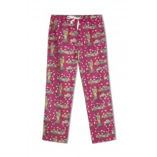 GreenApple Organic Cotton Mom Pyjama Pink Color with Doll Houses