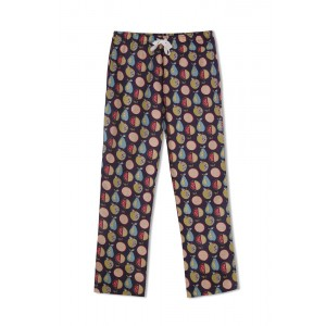 GreenApple Organic Cotton Mom Pyjama Purple Color with Colorful Fruits