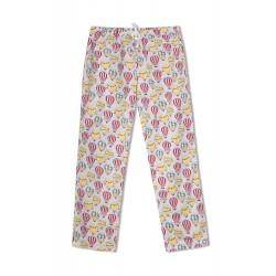 GreenApple Organic Cotton Mom Pyjama Lightblue Color with Colorful Hot Air Balloons