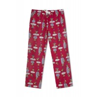 GreenApple Organic Cotton Mom Pyjama Red Color with Swinging Monkeys
