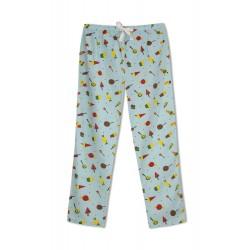 GreenApple Organic Cotton Mom Pyjama Blue Color with Candies and Icecream Cone