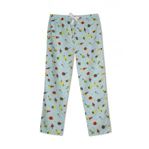GreenApple Organic Cotton Mom Pyjama Blue Color with Candies and Icecream Cone