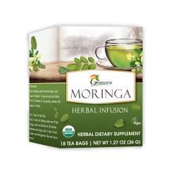 Grenera Moringa Organic Herbal Infusion Tea - 18 Tea Bags