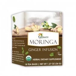 Grenera Organic Moringa Ginger Infusion Tea - 18 Tea Bags