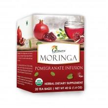Grenera Organic Moringa Pomegranate Infusion Tea - 18 Tea Bags