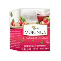 Grenera Organic Moringa Strawberry Infusion Tea - 18 Tea Bags