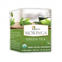 Grenera Organic Moringa Green Tea - 18 Tea Bags