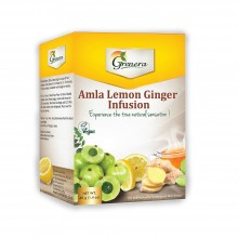 Grenera Organic Amla Lemon Ginger Infusion Tea - 20 Tea Bags