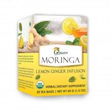 Grenera Organic Tulsi Lemon Ginger Infusion Tea - 20 Bags
