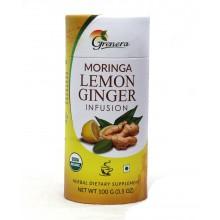 Grenera Organic Moringa Lemon Ginger Infusion Loose Tea - 100 GMS