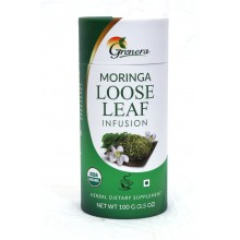 Grenera Organic Moringa Loose Leaf Infusion Tea - 100 GMS