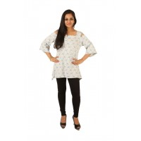 Indricka Hemakshi Grey Printed Top