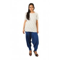 Indricka Lakshya Grey Printed Basic T-shirt