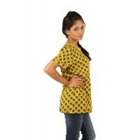 Indricka Vamika Basic Tshirt-Yellow