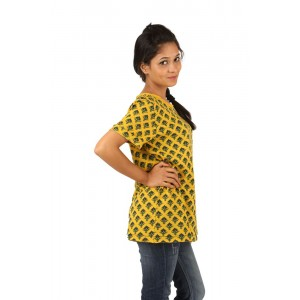 Indricka Vamika Basic Tshirt-Yellow