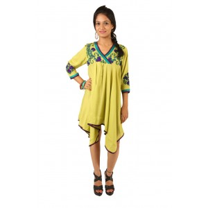 Indricka Lakshmi Lime Green Dress