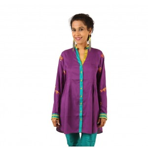 Indricka Tulika Purple Tunic