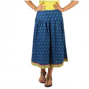 Indricka Blue Printed Skirt