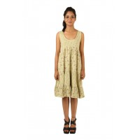 Indricka Inaya Green Printed Dress