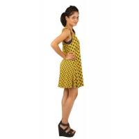Indricka Indra Yellow Printed Dress
