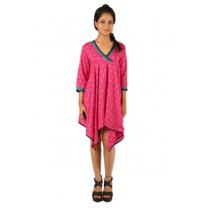 Indricka Lakshmi Pink Printed Dress