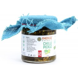 Induz Organic Green Chilli Sweet n Sour Pickle - 200 GMS