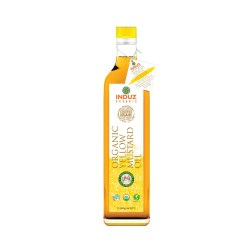 Induz Organic Mighty Yellow Mustard Oil (Cold Pressed) - 1 L