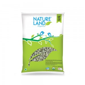 Natureland Organics Dried Whole Green Peas - 500 GMS