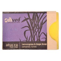 Omved Lemongrass & Sage Soap (refreshes, tones) - 125 GMS
