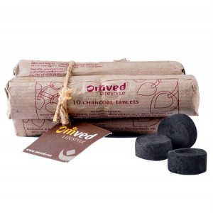 Omved Lifestyle Charcoal to Burn Dhoop - 30 PCS