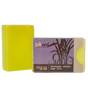 Omved Lifestyle Lemongrass Aromatherapy Soap - 125 GMS