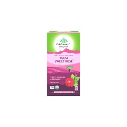 Organic India Tulsi Sweet Rose Tea - 25 Tea Bags