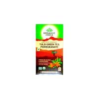 Organic India Tulsi Green Tea Pomegranate Tea - 25 Tea Bags