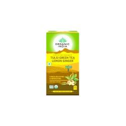 Organic India Tulsi Green Lemon Ginger Tea - 25 Tea Bags