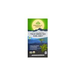 Organic India Tulsi Green Earl Grey Tea - 25 Tea Bags