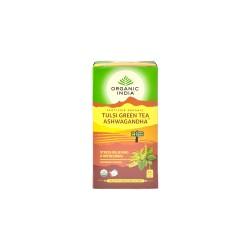 Organic India Tulsi Green Ashwagandha Tea - 25 Tea Bags