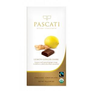 Pascati Indulgence Bar, Lemon & Ginger, 75g
