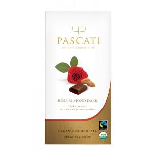 Pascati Indulgence Bar, Rose & Almonds, 75g