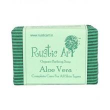 Rustic Art Organic Aloe Vera Soap - 100 GMS