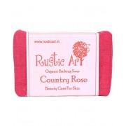 Rustic Art Organic Country Rose Soap - 100 GMS